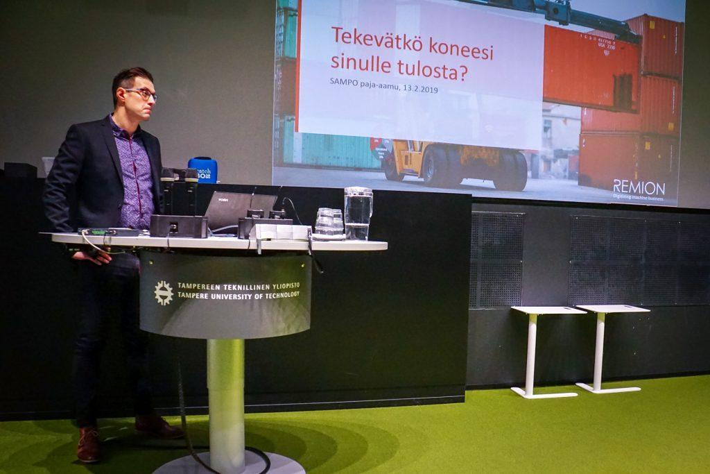 Business Finlandin järjestämä Sampo-paja Tampereella 3.2.2019.